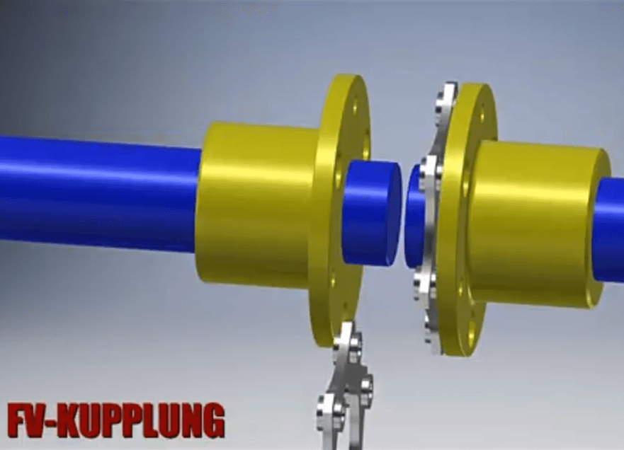 Assembly of coupling for shoert shafts distance.